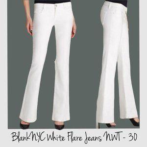 NWT BLANKNYC White Shoplifter Skinny Flare…